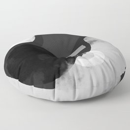 Branded Abstract B/W 1 Floor Pillow