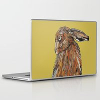 hare Laptop & iPad Skins featuring Hare by Louisa Heseltine