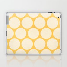 yellow and white polka dots Laptop & iPad Skin