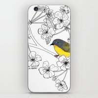 nashville iPhone & iPod Skins featuring Nashville Warbler by Art by Peleegirl