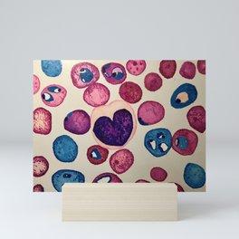Heart-shaped monocyte Mini Art Print