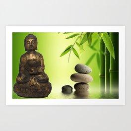 Spiritual calm Art Print