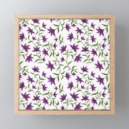 Purple Lilly Floral Pattern  Framed Mini Art Print