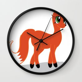 My little fox Wall Clock