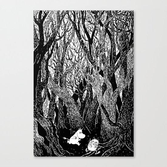 Moomins run for Stinky Canvas Print