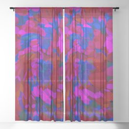 ovoid dynamics 2 Sheer Curtain