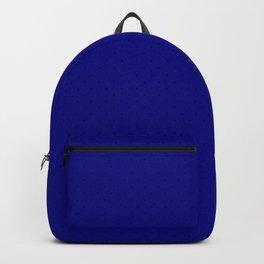 Extra Small Black on Royal Blue Polka Dot Backpack