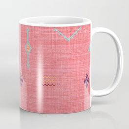Cactus Silk Pattern in Pink Coffee Mug