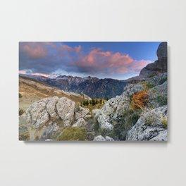 """""""Mountain Light"""". Sunset at the Alayos. Metal Print"""