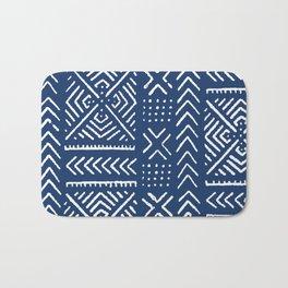 Line Mud Cloth // Dark Blue Bath Mat
