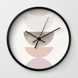 Pastel Geometric 01 Wall Clock
