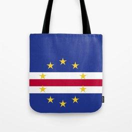 Cape Verde flag emblem Tote Bag