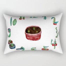 cactus clock Rectangular Pillow