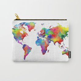 world map colorful 2 Carry-All Pouch