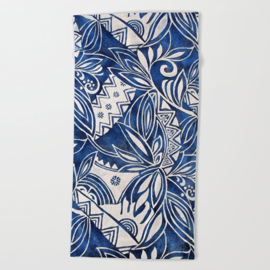 Hawaiian tribal pattern II Beach Towel