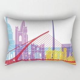 Dublin skyline pop Rectangular Pillow