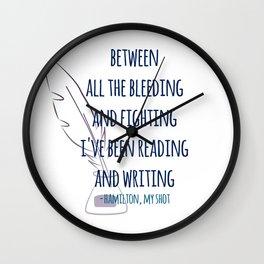 READING AND WRITING | HAMILTON Wall Clock