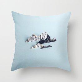Paper mountains Throw Pillow