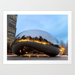 City on Fire  Art Print