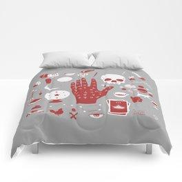Methods of Divination - Gray & Red Comforters