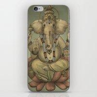 ganesha iPhone & iPod Skins featuring Ganesha by Sumi Senthi
