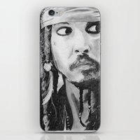 jack sparrow iPhone & iPod Skins featuring Jack Sparrow by Christie Rainey