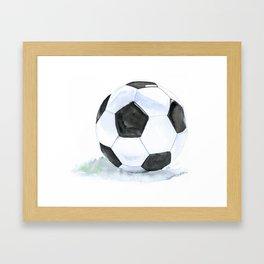 Soccer Ball Watercolor Framed Art Print