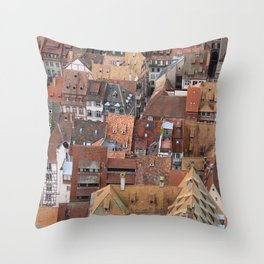 Alsace Rooftops Throw Pillow