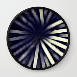 Intersecting-Retro Blue Wall Clock