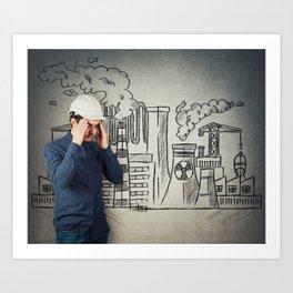 air pollution Art Print