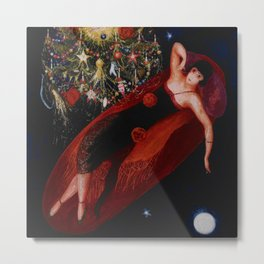 Stars & Moon (Portrait of my Crazy Sister) by Florine Stettheimer Metal Print