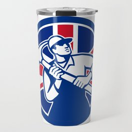 British Joiner Union Jack Flag Icon Travel Mug