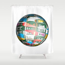 Christmas Sphere Shower Curtain