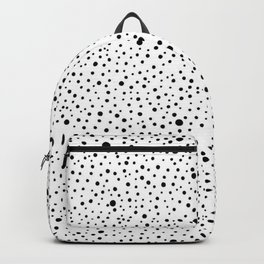 Polka Dots | Black and white pattern Backpack