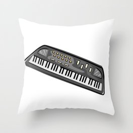 Electric Keyboard Piano Throw Pillow
