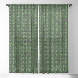 Binary Code Inside Sheer Curtain