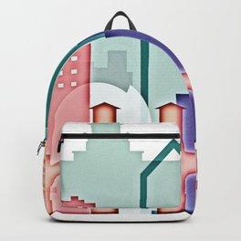 San Jose colorful skyline design Backpack