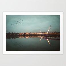 The Peace Bridge, Derry-Londonderry Art Print