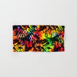 Vivid Psychedelic Hippy Tie Dye Hand & Bath Towel