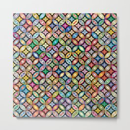 COLORFULL FLORAL PATTERN Metal Print