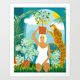 Bring the jungle home #illustration #painting Art Print