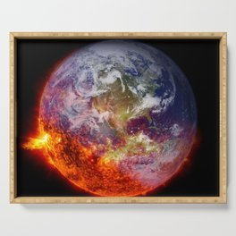 Global Warming Climate Change Serving Tray