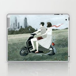 Couple On Scooter Laptop & iPad Skin