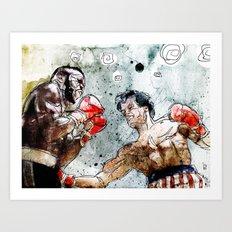 Boxing: Rocky Balboa vs Clubber Lang Art Print