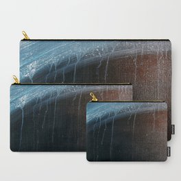 Horizon [2]: a pretty minimal abstract painting in blue and gold by Alyssa Hamilton Art Carry-All Pouch
