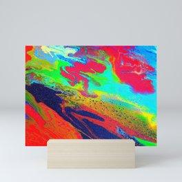 Abstract glitter art landscape painting Mini Art Print