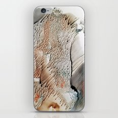 cliff of trees - watercolor monotype iPhone & iPod Skin