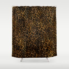 Cheetah Fur Texture Shower Curtain