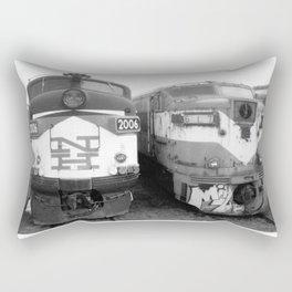Retired Trains Photography Rectangular Pillow
