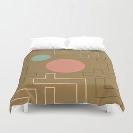Setting Sun Rising Moon - Mid Century Modern Duvet Cover